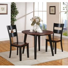 Black & Cherry Drop Leaf Dining Set