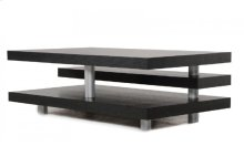 A&X Adrian - Modern Multi-Tier Black Oak Coffee Table