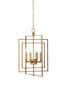 Cube Chandelier-gold (sm)
