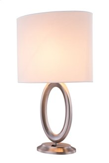 1 Light Table Lamp with Metal Body & Polished Nickel#29 Finish