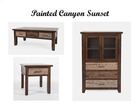 Painted Canyon Sunset End Table