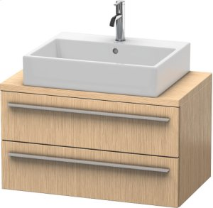 X-large Vanity Unit For Console Compact, Brushed Oak (real Wood Veneer)