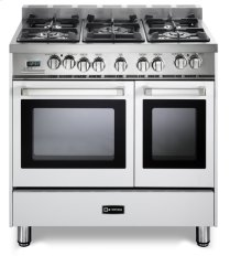 "White 36"" Dual Fuel Double Oven Range - 'N' Series"