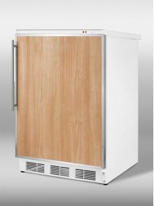 Freestanding medical all-freezer capable of -25º C operation; white exterior with stainless steel door frame to accept custom panels