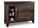 Verona Sideboard w/1 Glass Door on Left & 3/Dwrs on Right & 2/Glass Adjust. Product Image