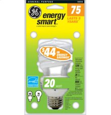 GE 20 Watt Soft White Spiral®