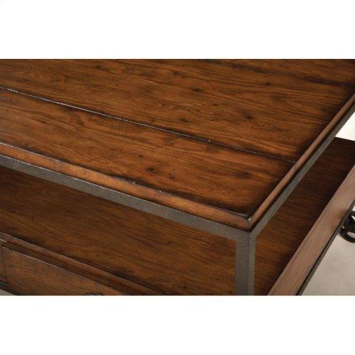 Rectangular Storage Cocktail Table