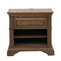 Nightstand With One Drawer and USB Port Product Image