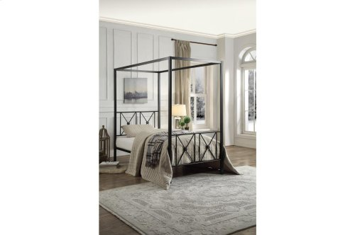 Twin Canopy Platform Bed