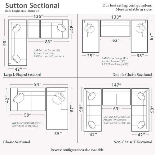 Sutton U-Shaped Sectional