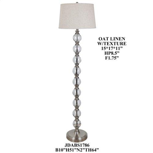 Glass/Metal Floor Lamp