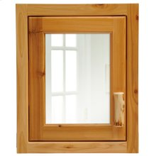 Inset Medicine Cabinet - Natural Cedar - Hinge Left
