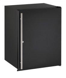"""Ada Series 24"""" Ada Solid Door Refrigerator With Black Solid (lock) Finish and Field Reversible Door Swing"""