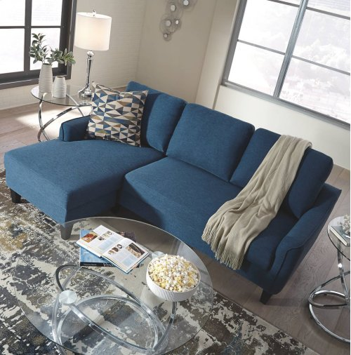11503271 Jarreau 2PC Blue Sectional Sleeper