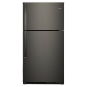 Whirlpool® 33-inch Wide Top Freezer Refrigerator - 21 cu. ft. - Black Stainless