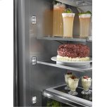 "Kitchenaid 24.2 Cu. Ft. 42"" Width Built-In Panel Ready French Door Refrigerator With Platinum Interior Design"