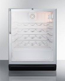 Commercially Approved Wine Cellar for Built-in Undercounter Use, With Glass Door and Fully Wrapped Stainless Steel Cabinet