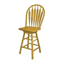 "DLU-B30-LO  30"" Swivel Barstool  Light Oak Finish"