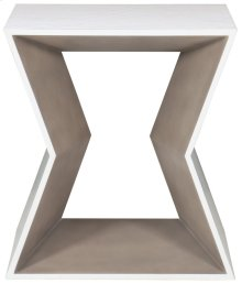 Kearny Square End Table in Chalky White