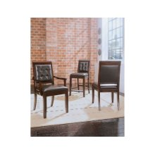 Upholstered Leather Arm Chair-kd