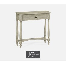 Rustic Grey Small Console Table with Drawer
