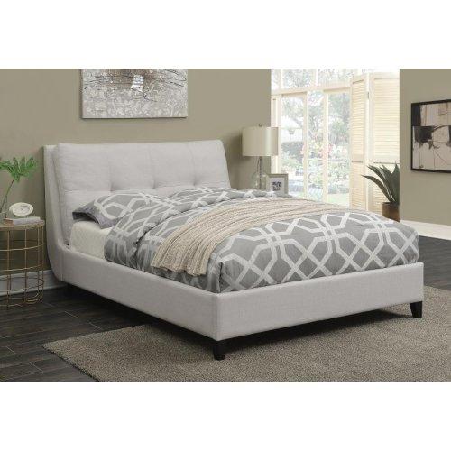 Amador Beige Upholstered Full Platform Bed