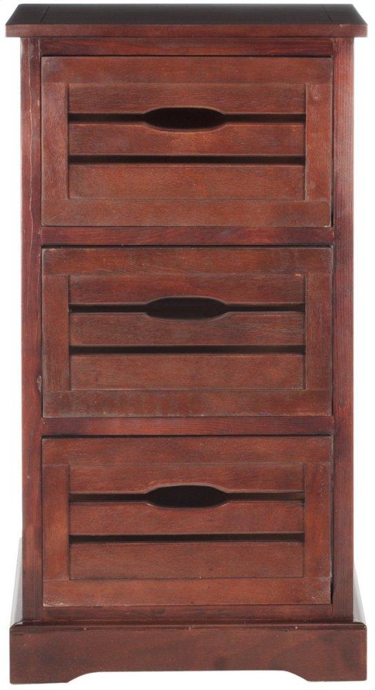Samara 3 Drawer Cabinet - Cherry