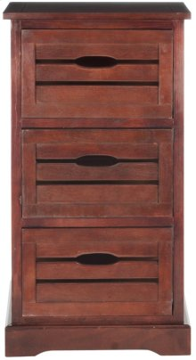Samara 3 Drawer Cabinet - Cherry