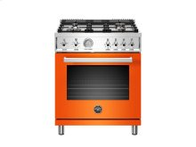 30 inch All Gas Range, 4 Brass Burner Orange