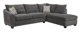 2pc Sectional-lsf Sofa-rsf Chaise Ink W/2 Accent Pillows