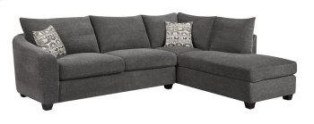 2pc Sectional-lsf Sofa-rsf Chaise Ink W/2 Accent Pillows Product Image