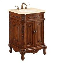 24 in. Single Bathroom Vanity set in Brown