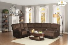 Left Side Reclining Love Seat with Console