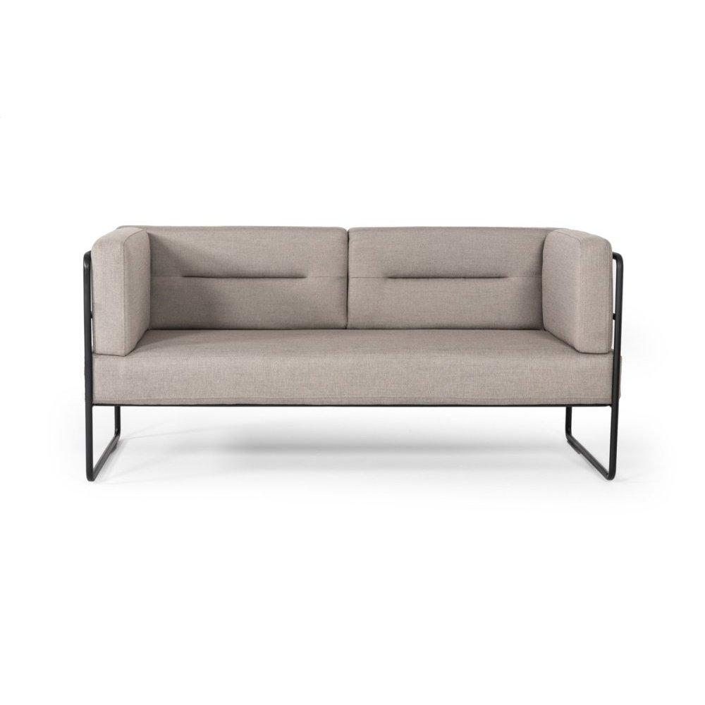 Modrest Norman Modern Grey Fabric Loveseat Sofa