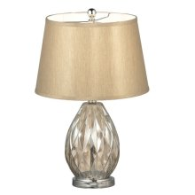Etched Champagne Glass Lamp. 150W Max