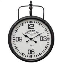 Metal & Glass Wall Clock  18in X 23in X 2in