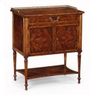 Mahogany Bedside Table with Brass Gallery Product Image