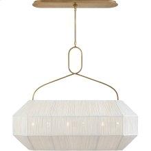 Visual Comfort KW5317AB-L Kelly Wearstler Forza 6 Light 40 inch Antique-Burnished Brass Linear Lantern Ceiling Light, Medium Gathered