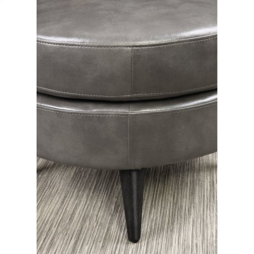 Emerald Home Oscar Round Ottoman-dark Gray U3218-03-13