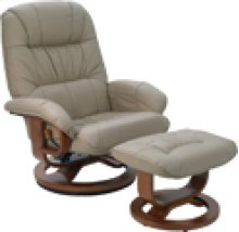 R-028 Mario Stone Leather Recliner
