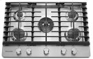 """30"""" 5-Burner Gas Cooktop - Stainless Steel Product Image"""