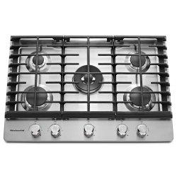 """30"""" 5-Burner Gas Cooktop - Stainless Steel"""