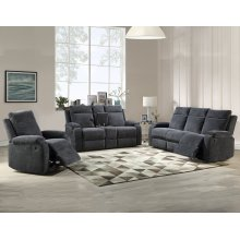 "Empire Console Loveseat Navy 74"" x 38"" x 39"""