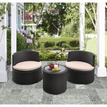 Kailani Outdoor Wicker Patio Set