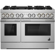"RISE™ 48"" Dual-Fuel Professional Range with Gas Grill, RISE"