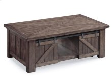 Rectangular Lift Top Cocktail Table w/Casters