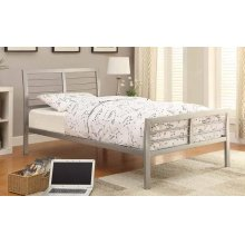 Cooper Contemporary Silver Metal Full Bed