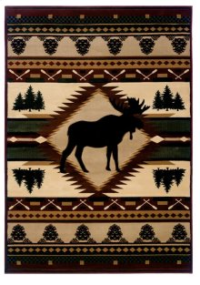 Contours/jq Moose Wilderness Rugs