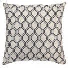 Andante Contemporary Decorative Feather and Down Throw Pillow In Cobalt Jacquard Fabric Product Image