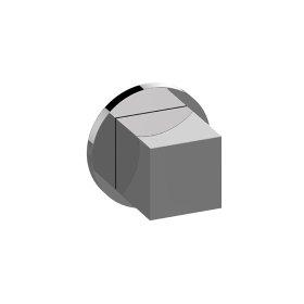 Round M-Series 2-Way Diverter Valve Trim with Handle